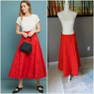 Anthropologie Maeve  Sandra Belted Skirt